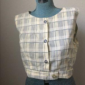 1950s Handmade Crop Top Button Down
